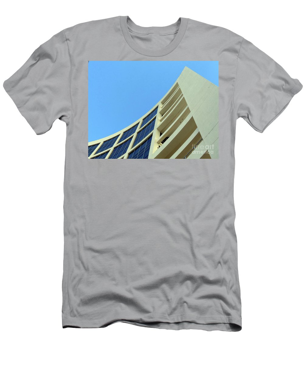 Building.modern Architecture Men's T-Shirt (Athletic Fit) featuring the photograph Clean Lines by Carlos Amaro
