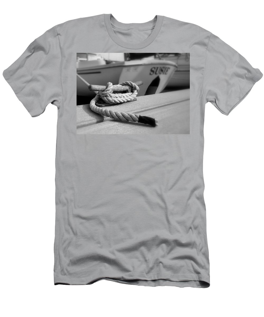 Cleat Hitch Men's T-Shirt (Athletic Fit) featuring the photograph Cleat Hitch Boat Art by Stephanie McDowell