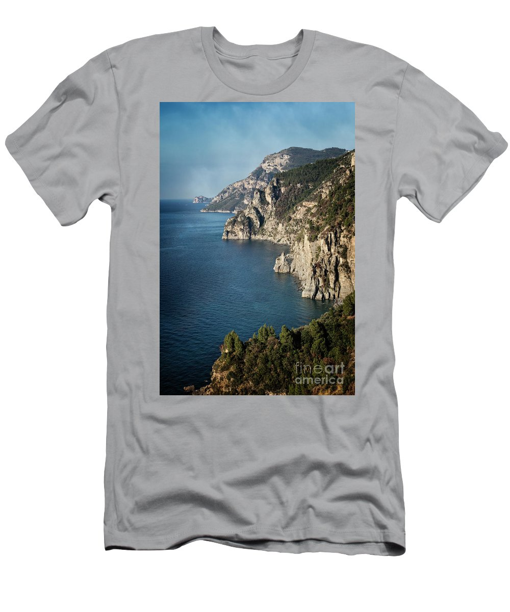 Amalfi Men's T-Shirt (Athletic Fit) featuring the photograph Cliffs Of Amalfi by Scott Kemper