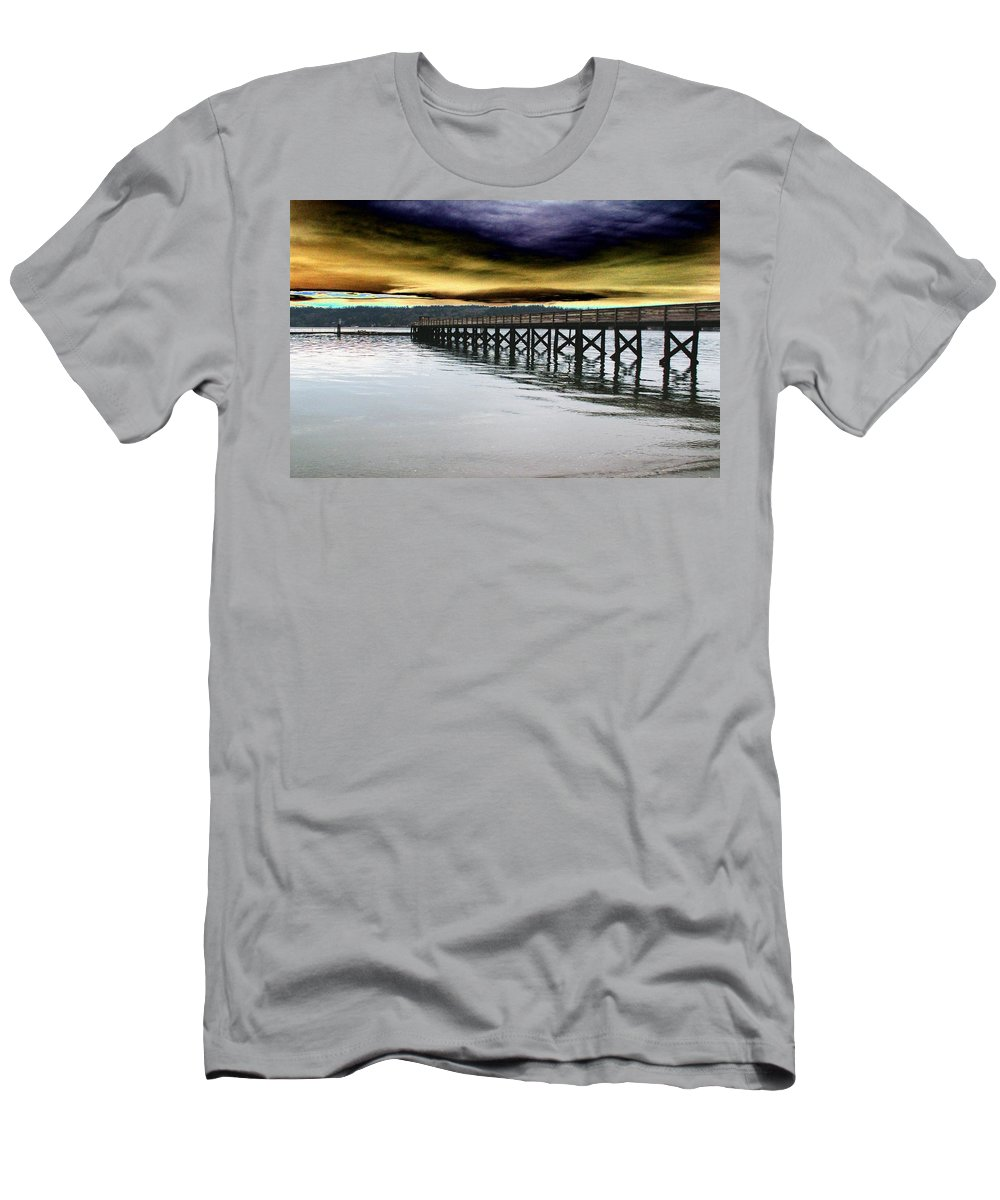 Clouds Men's T-Shirt (Athletic Fit) featuring the photograph Clouds Over Illahee by Tim Allen
