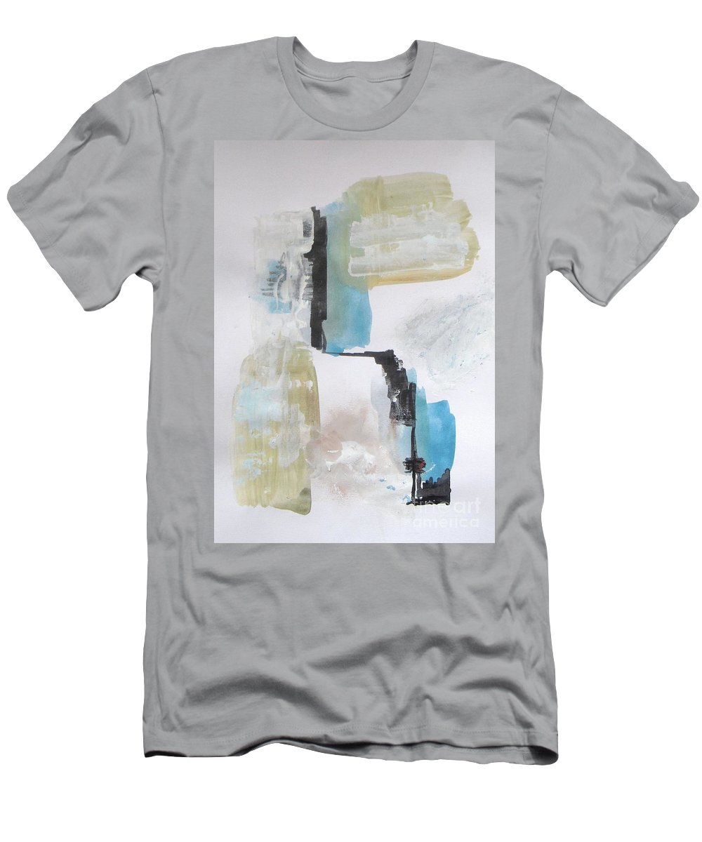 Abstract Men's T-Shirt (Athletic Fit) featuring the painting Cn Tower by Vesna Antic