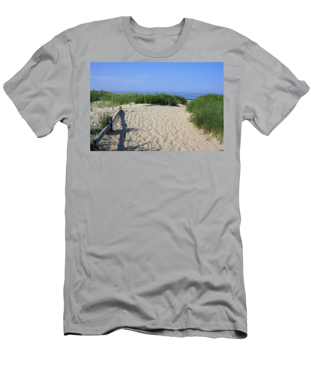 Coast Guard Beach Men's T-Shirt (Athletic Fit) featuring the photograph Coast Guard Beach Ccns by Donna Walsh