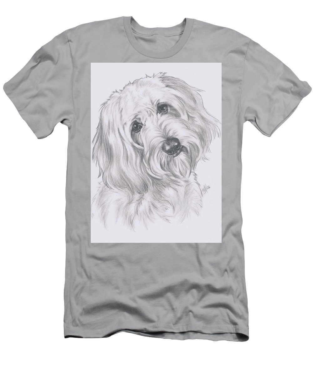 Designer Dog Men's T-Shirt (Athletic Fit) featuring the drawing Cocker-poo by Barbara Keith