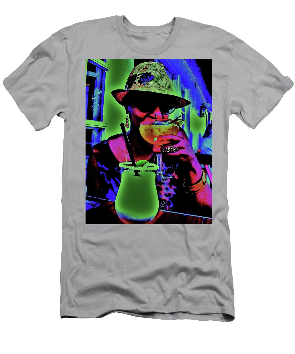 Cocktails Men's T-Shirt (Athletic Fit) featuring the photograph Cocktails Anyone by Diana Dearen