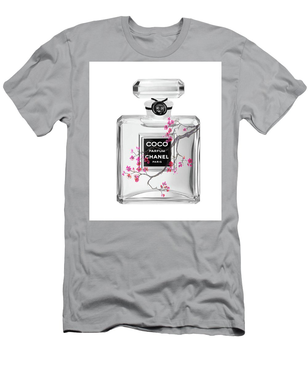 981e13a92 Coc Chanel Perfume Print Men s T-Shirt (Athletic Fit) featuring the  painting coco