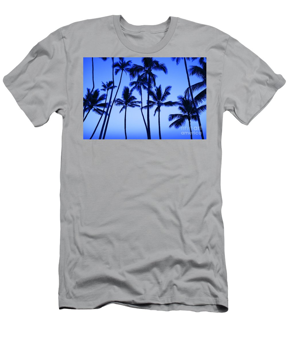 Afternoon Men's T-Shirt (Athletic Fit) featuring the photograph Coconut Palms At Dawn by Dana Edmunds - Printscapes