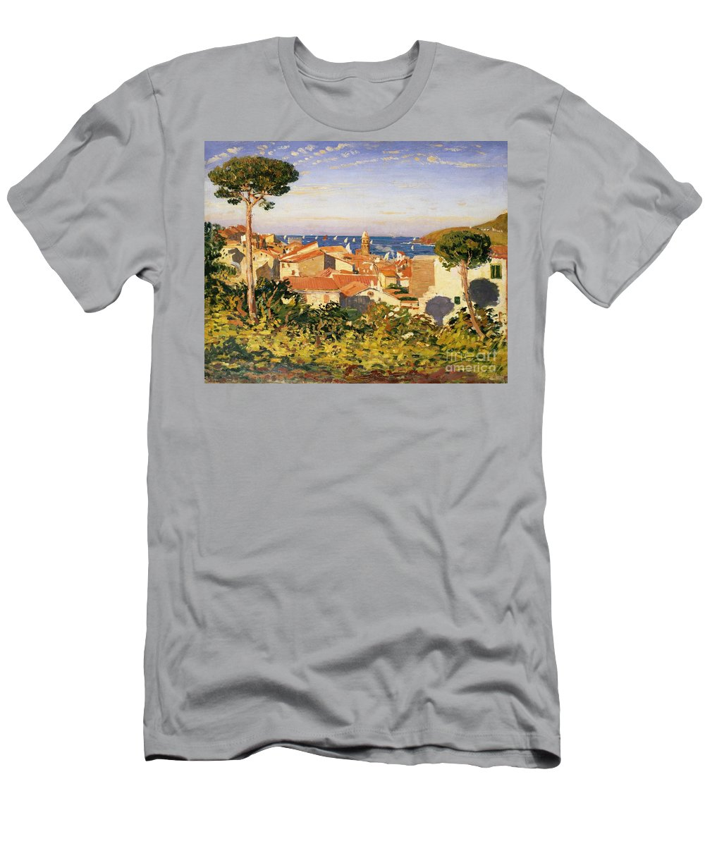 Collioure Men's T-Shirt (Athletic Fit) featuring the painting Collioure by James Dickson Innes