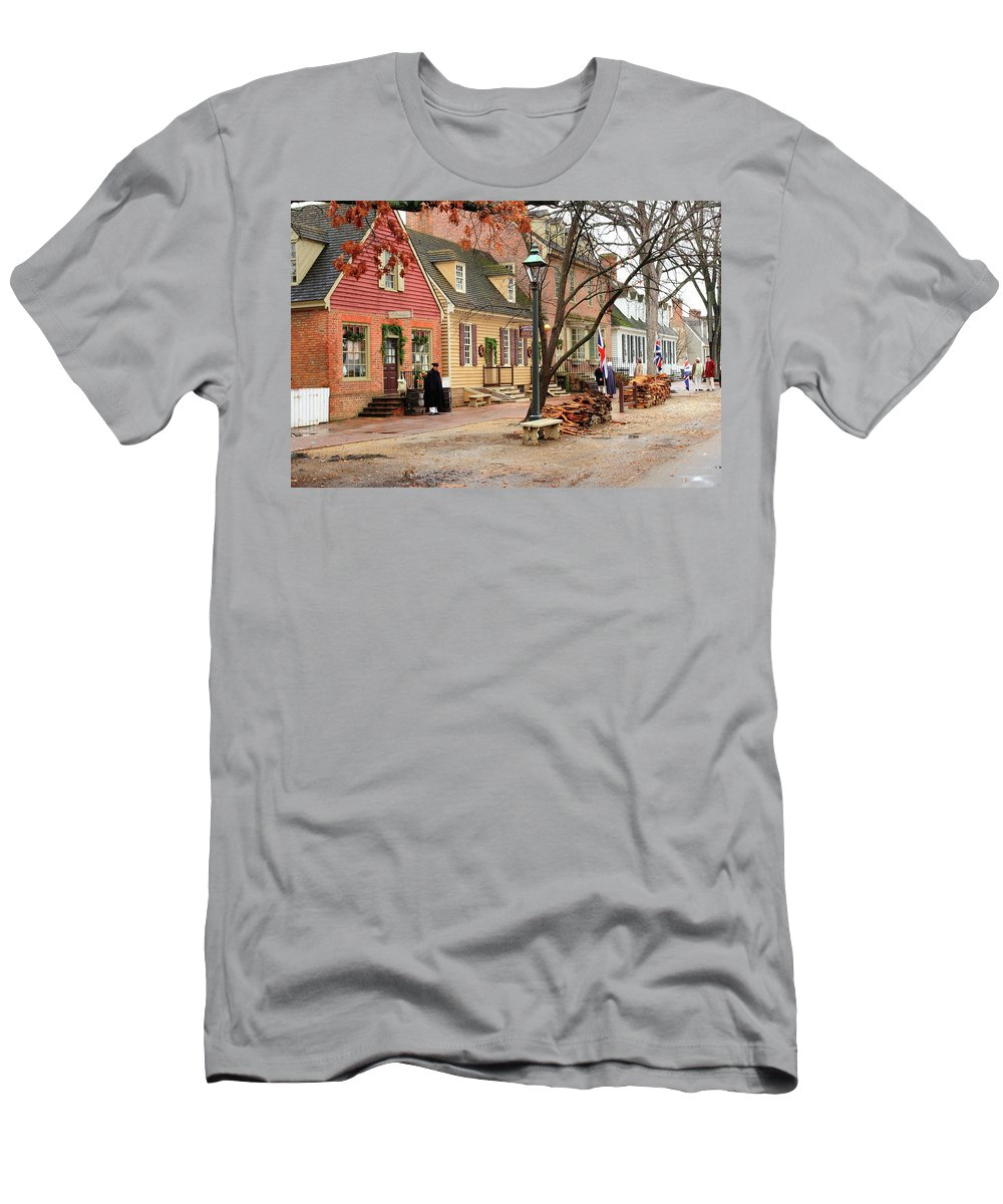 American Men's T-Shirt (Athletic Fit) featuring the photograph Colonial Morning by Lou Ford