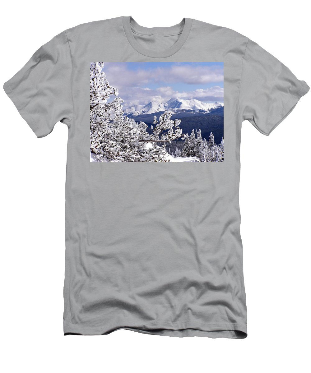Mountains Men's T-Shirt (Athletic Fit) featuring the photograph Colorado Sawatch Mountain Range by Carol Milisen