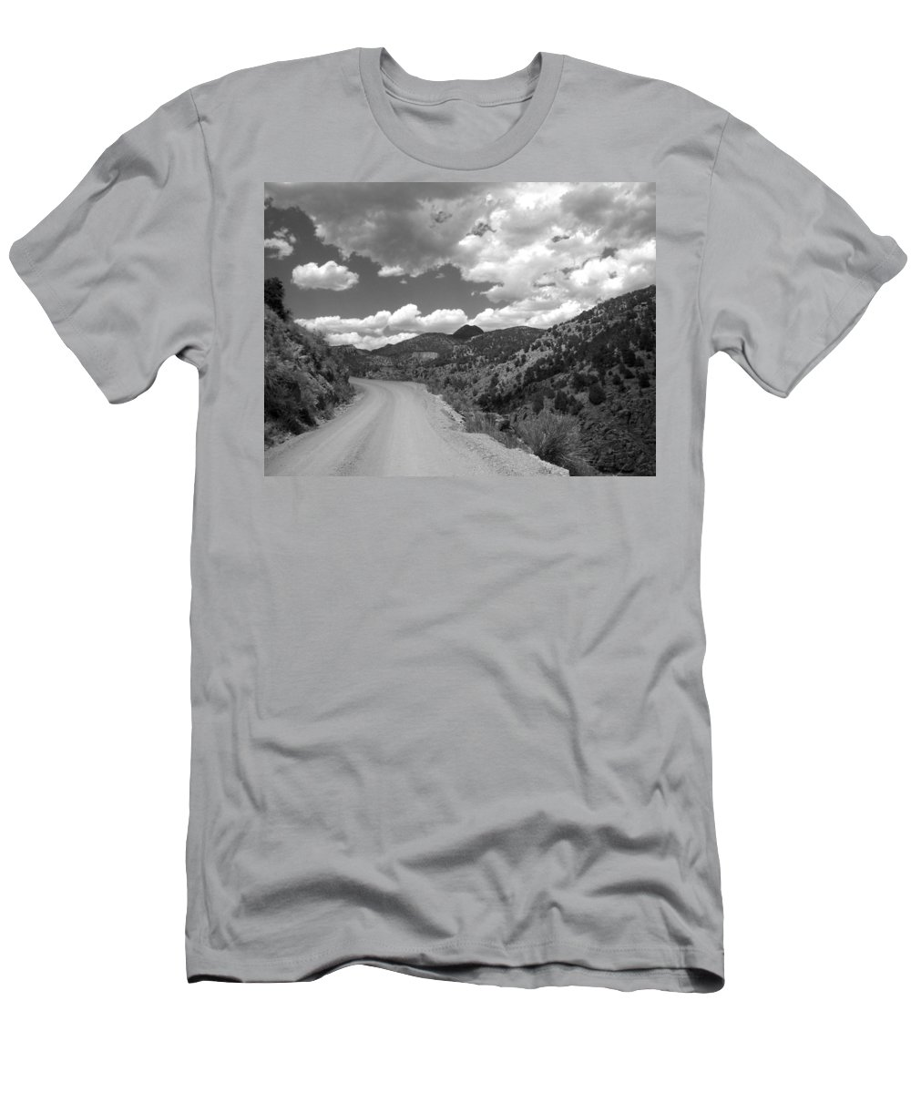 Colorado Men's T-Shirt (Athletic Fit) featuring the photograph Colorado Shelf Road 1 B-w by Anita Burgermeister