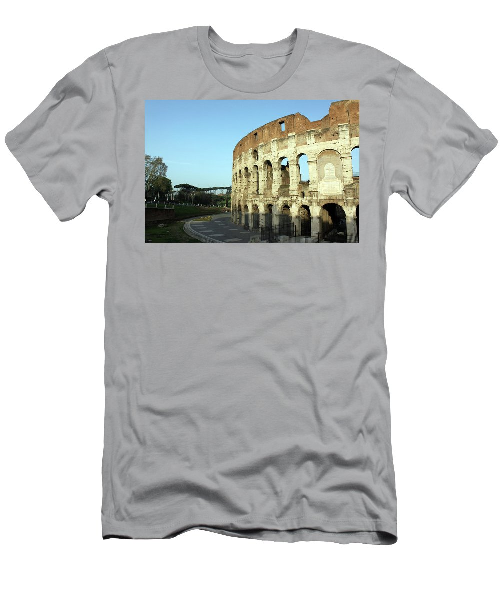Colosseum Men's T-Shirt (Athletic Fit) featuring the photograph Colosseum Early Morning by Munir Alawi