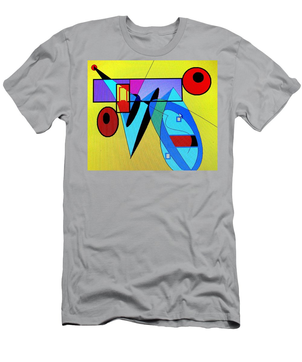 Horn Men's T-Shirt (Athletic Fit) featuring the digital art Come Blow Your Horn by Ian MacDonald