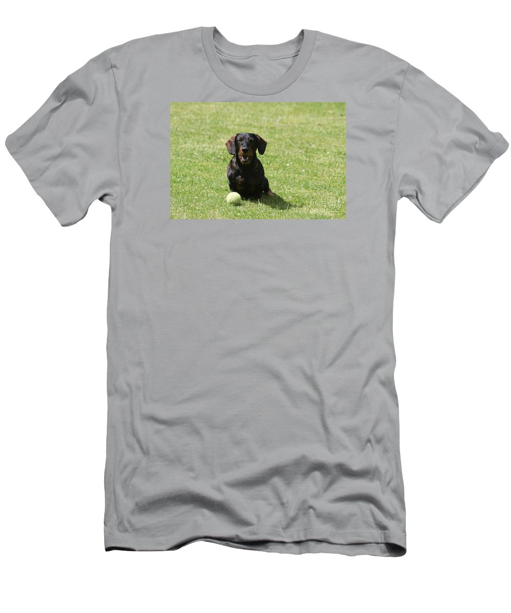 Dog Men's T-Shirt (Athletic Fit) featuring the photograph Come On by Christiane Schulze Art And Photography