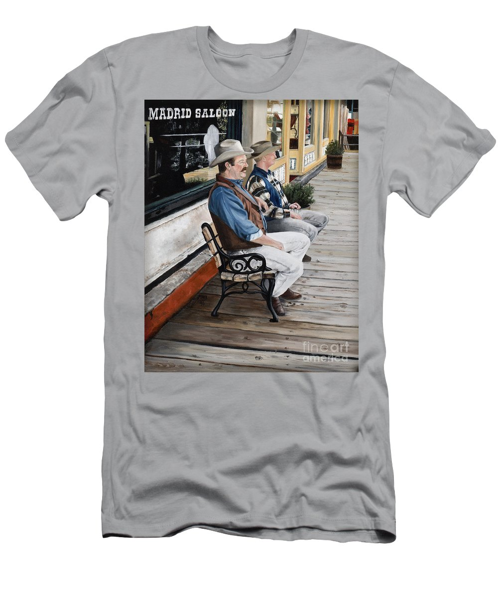 Friends Men's T-Shirt (Athletic Fit) featuring the painting Compadres by Mary Rogers