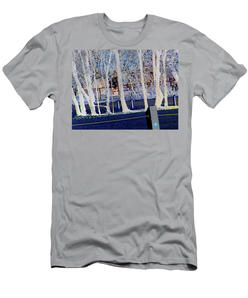 Abstract Men's T-Shirt (Athletic Fit) featuring the digital art Composition Of Trees by Lenore Senior