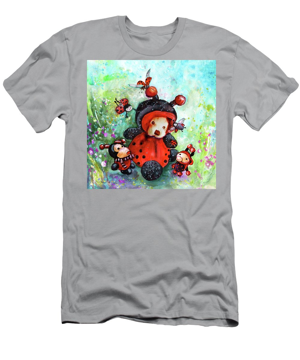 Truffle Mcfurry Men's T-Shirt (Athletic Fit) featuring the painting Comtessine Coccinella De Lafontaine by Miki De Goodaboom