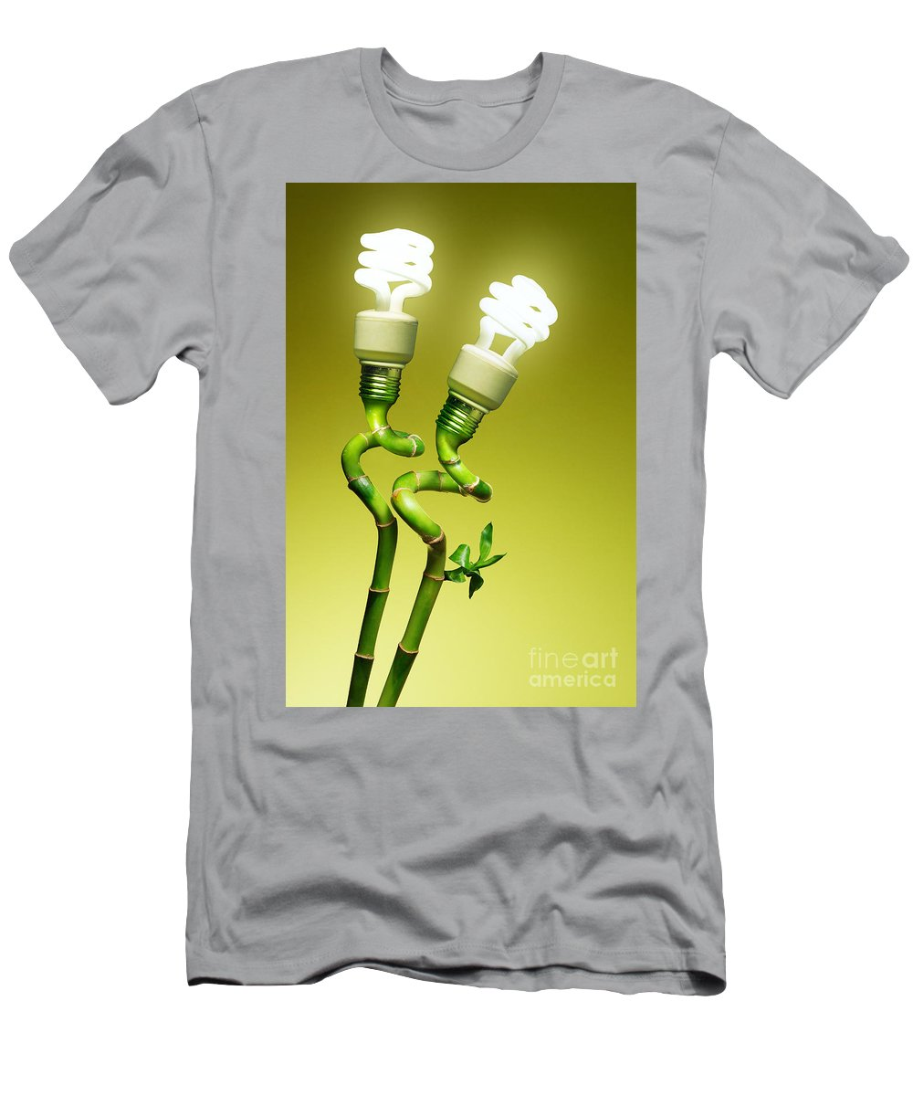 Alternative Men's T-Shirt (Athletic Fit) featuring the photograph Conceptual Lamps by Carlos Caetano