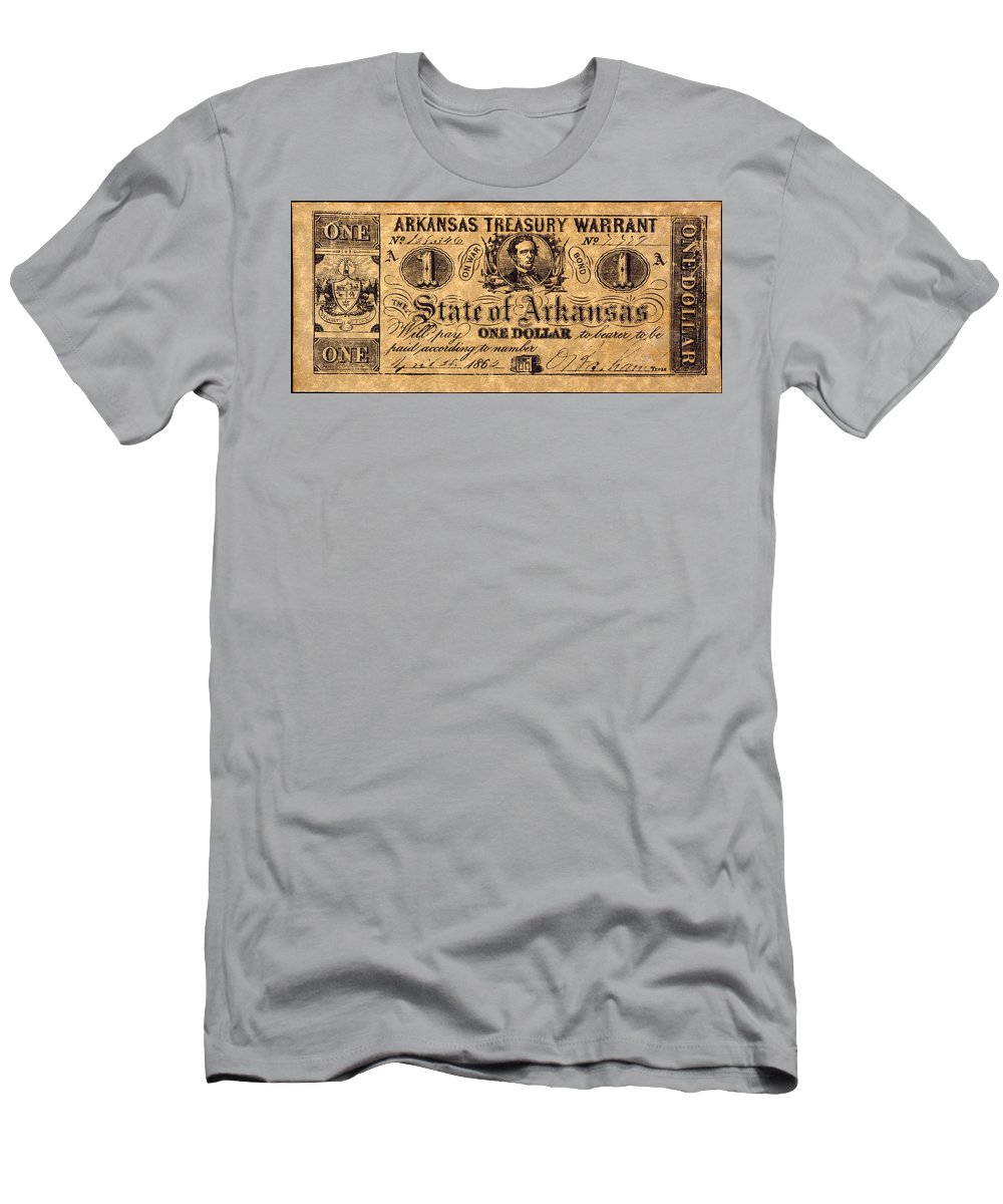 1862 Men's T-Shirt (Athletic Fit) featuring the photograph Confederate Banknote by Granger