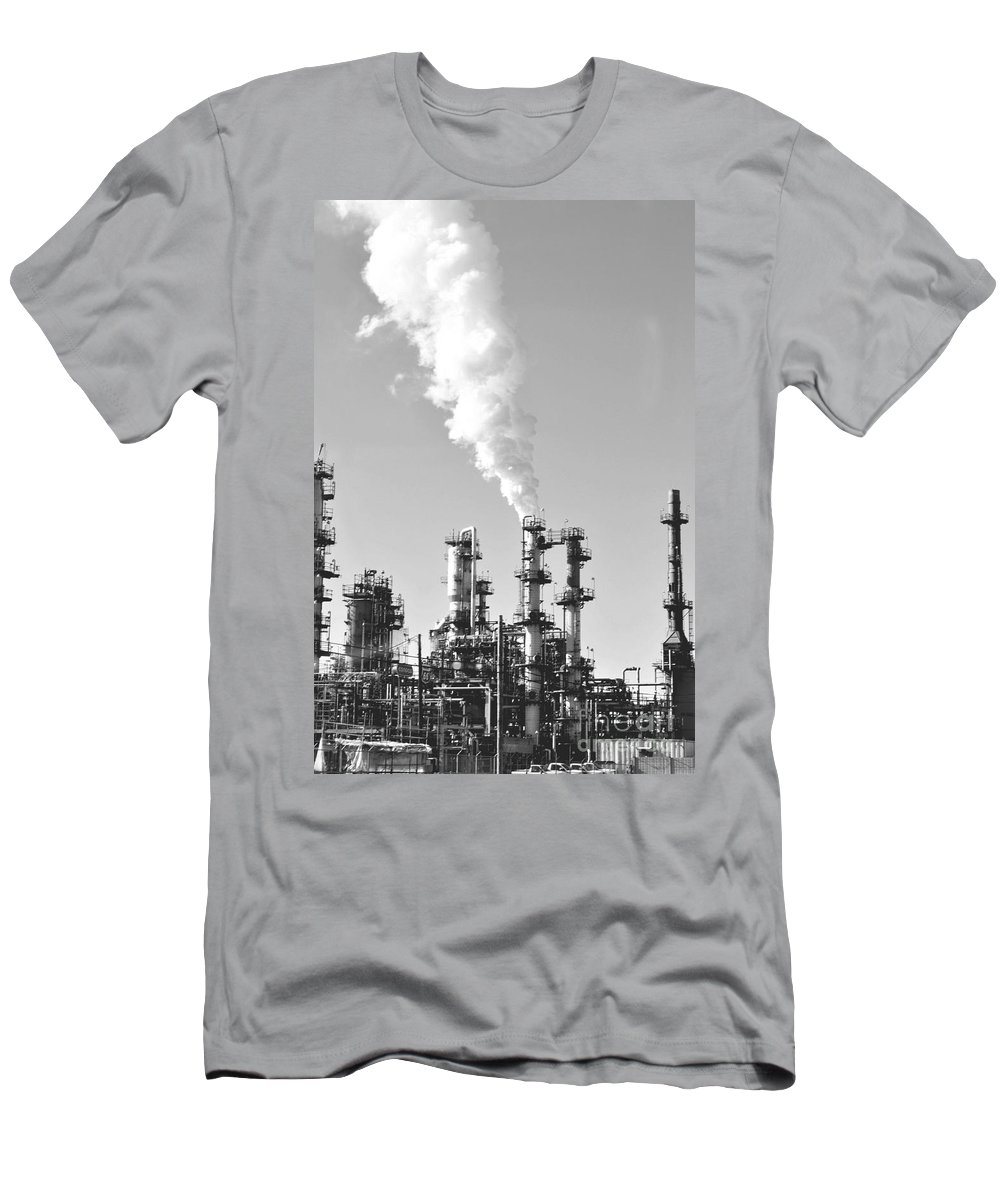 Oil Men's T-Shirt (Athletic Fit) featuring the photograph Conoco by Anjanette Douglas