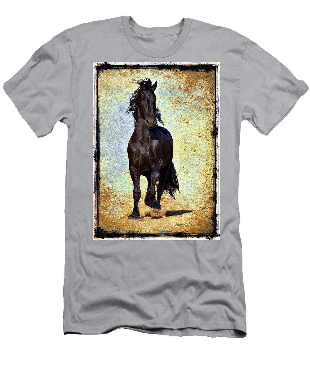 Men's T-Shirt (Athletic Fit) featuring the photograph Conqueror by Jean Hildebrant