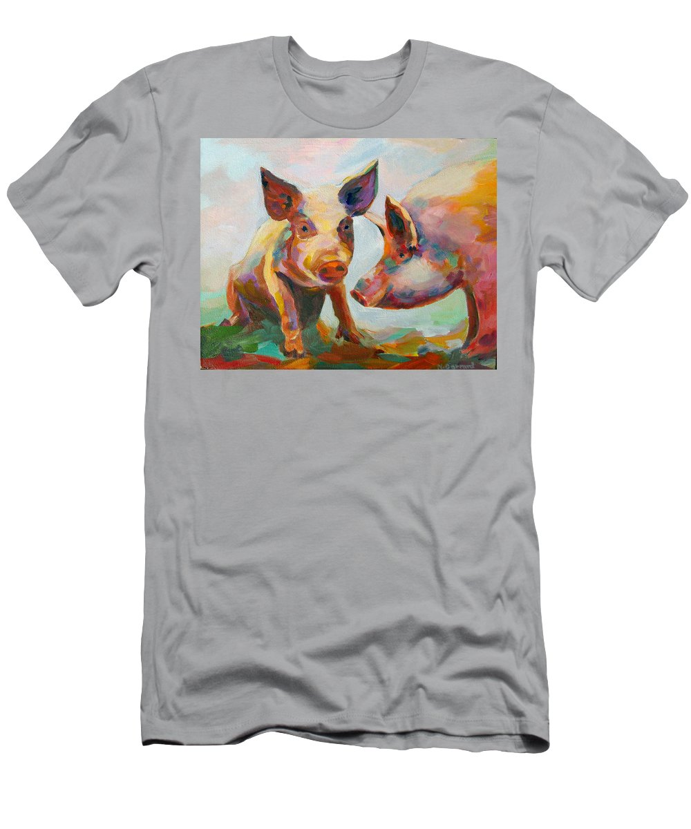 Pigs T-Shirt featuring the painting Consultation by Naomi Gerrard