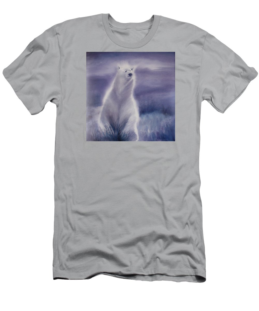 Bear Men's T-Shirt (Athletic Fit) featuring the painting Cool Bear by Allison Ashton
