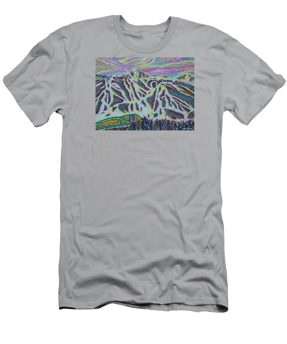 Landscape Men's T-Shirt (Athletic Fit) featuring the painting Copper Mountain by Robert SORENSEN