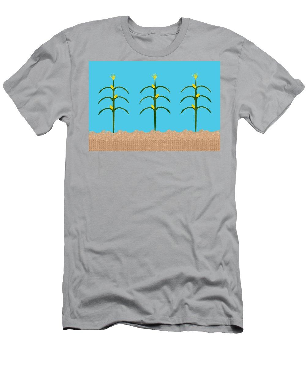 Children's Room Men's T-Shirt (Athletic Fit) featuring the digital art Corn Rows by Hannah Breidenbach
