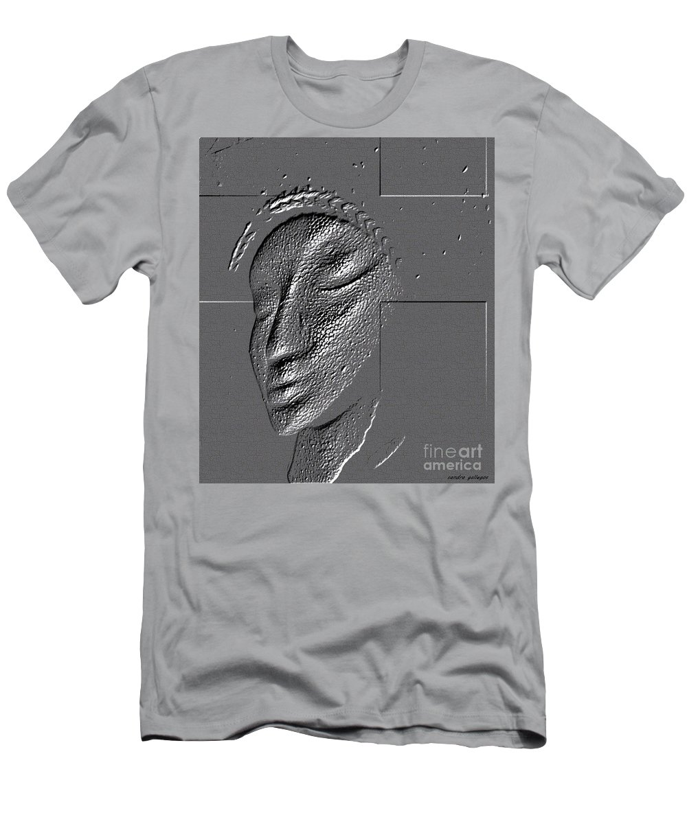 Beautiful Men's T-Shirt (Athletic Fit) featuring the digital art Coronation by Sandra Gallegos