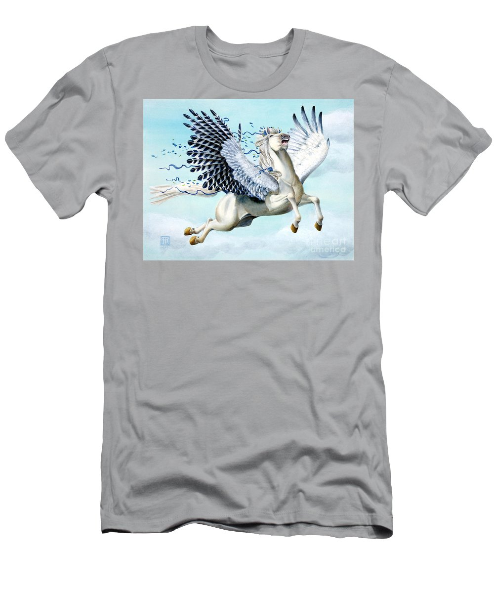 Artwork T-Shirt featuring the painting Cory Pegasus by Melissa A Benson