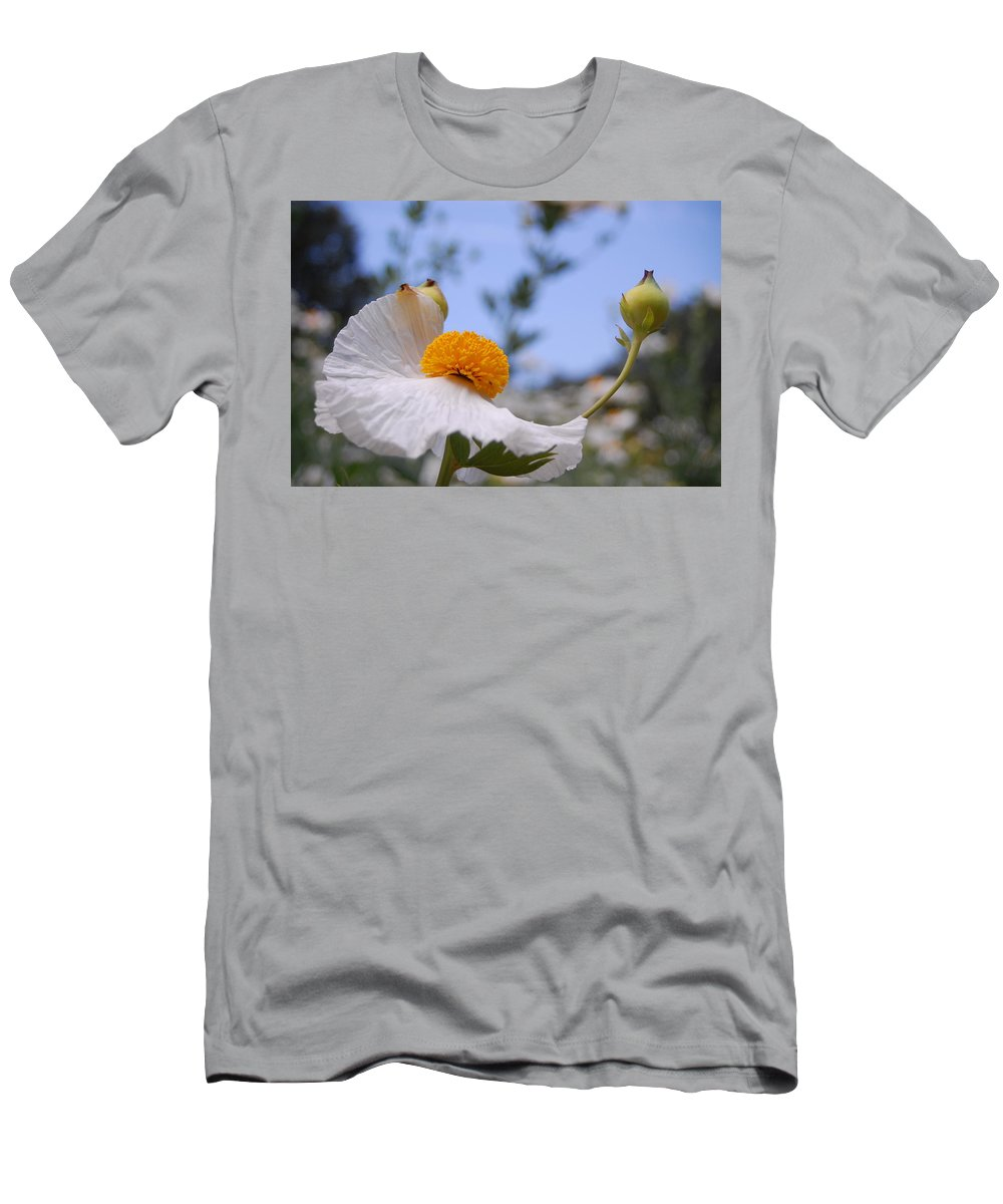 Flower Men's T-Shirt (Athletic Fit) featuring the photograph Coulter's Poppy 4 by Amy Fose