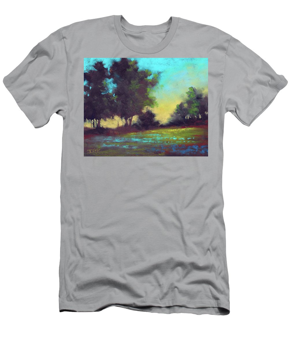 Country T-Shirt featuring the painting Country Twilight by David G Paul