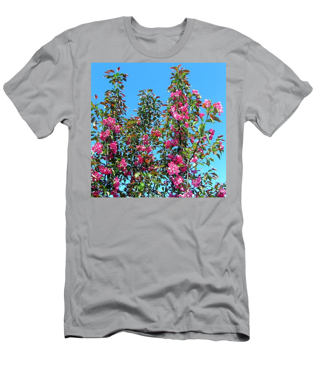 Crab Apple Blossoms Men's T-Shirt (Athletic Fit) featuring the photograph Crab Apple Blossoms by Will Borden