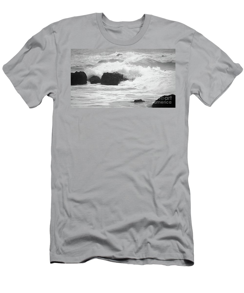 Waves Men's T-Shirt (Athletic Fit) featuring the photograph Crashing Waves by Mellissa Ray