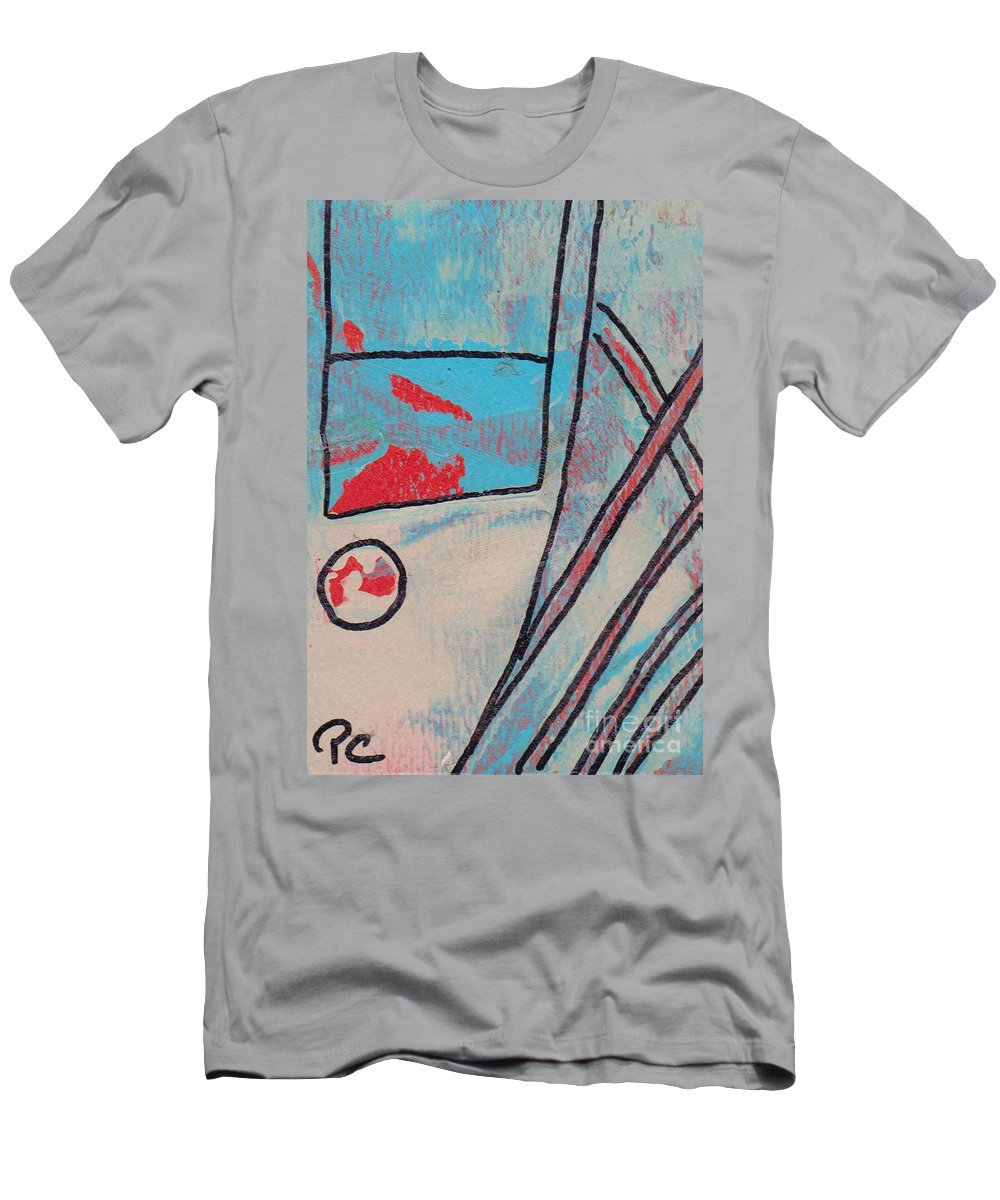 Abstract Men's T-Shirt (Athletic Fit) featuring the painting Cream Colored Door by Patricia Cleasby