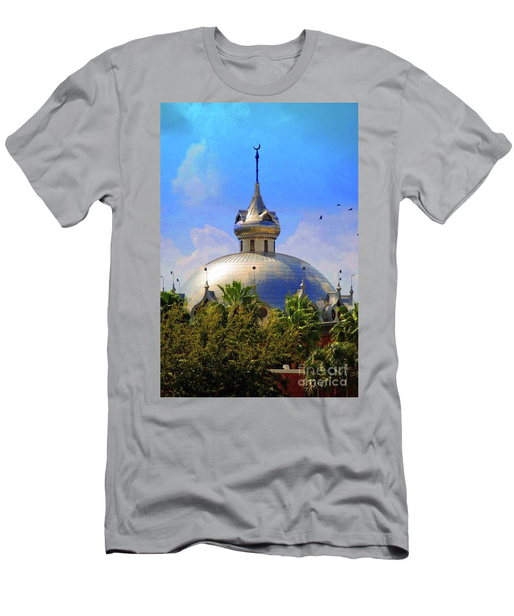 University Of Tampa Men's T-Shirt (Athletic Fit) featuring the photograph Crescent Of The Dome by Jost Houk