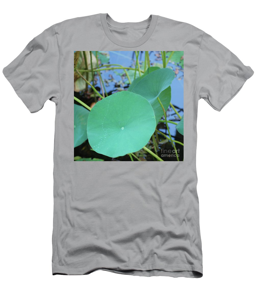 Men's T-Shirt (Athletic Fit) featuring the photograph Crossing The Lily Pond Outback Nubmer Two Square by Heather Kirk