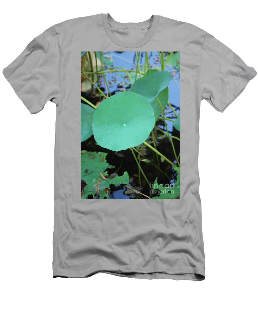 Men's T-Shirt (Athletic Fit) featuring the photograph Crossing The Lily Pond Outback Number One by Heather Kirk