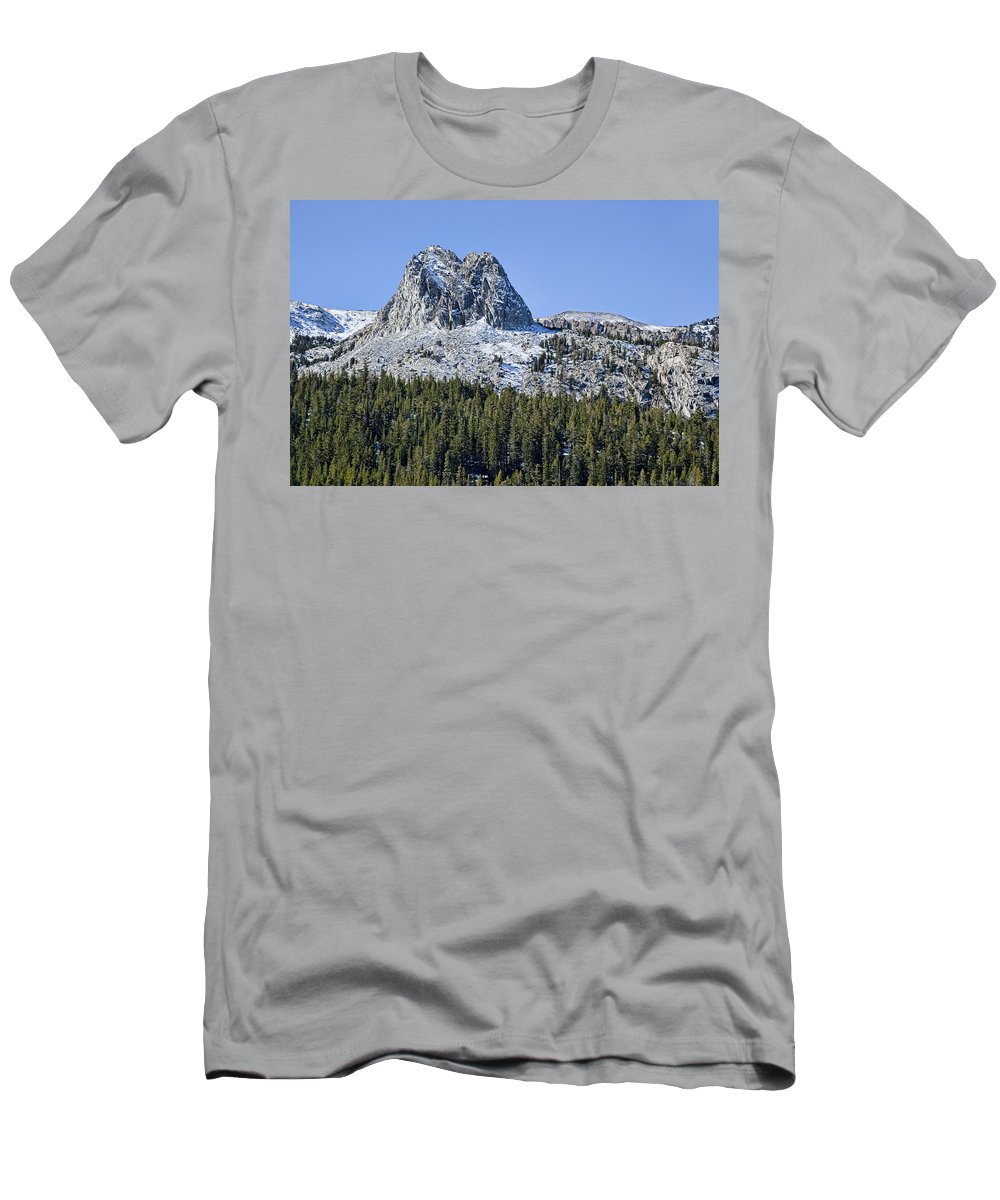 Mountain Men's T-Shirt (Athletic Fit) featuring the photograph Crystal Crag by Kelley King