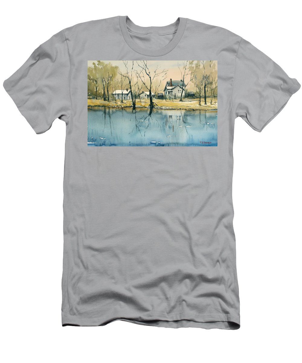 Crystal River Men's T-Shirt (Athletic Fit) featuring the painting Crystal River View by Ryan Radke