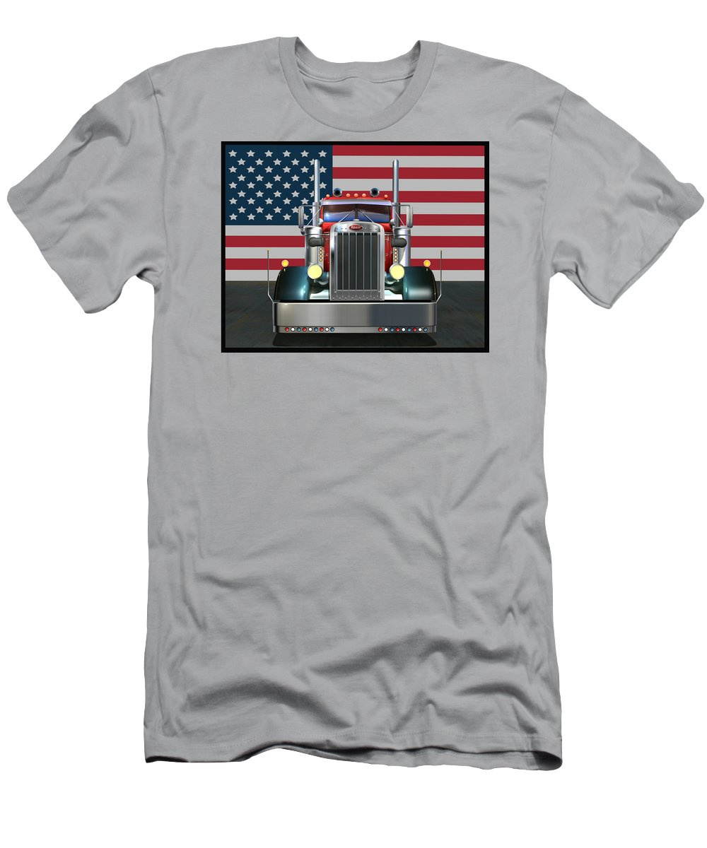 9f388b04a Peterbilt Men's T-Shirt (Athletic Fit) featuring the digital art Custom  Peterbilt 2