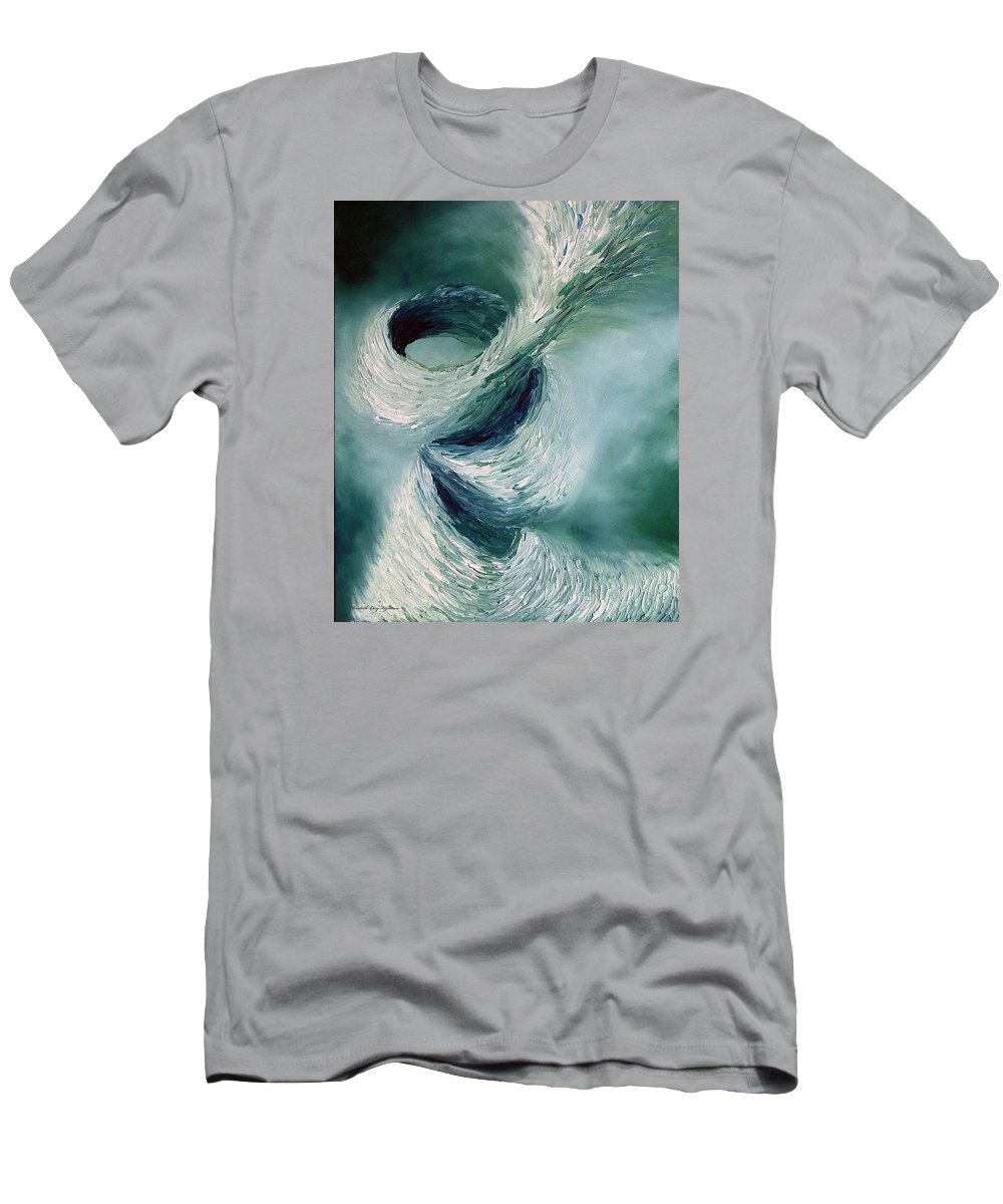 Tornado Men's T-Shirt (Athletic Fit) featuring the painting Cyclone by Elizabeth Lisy Figueroa