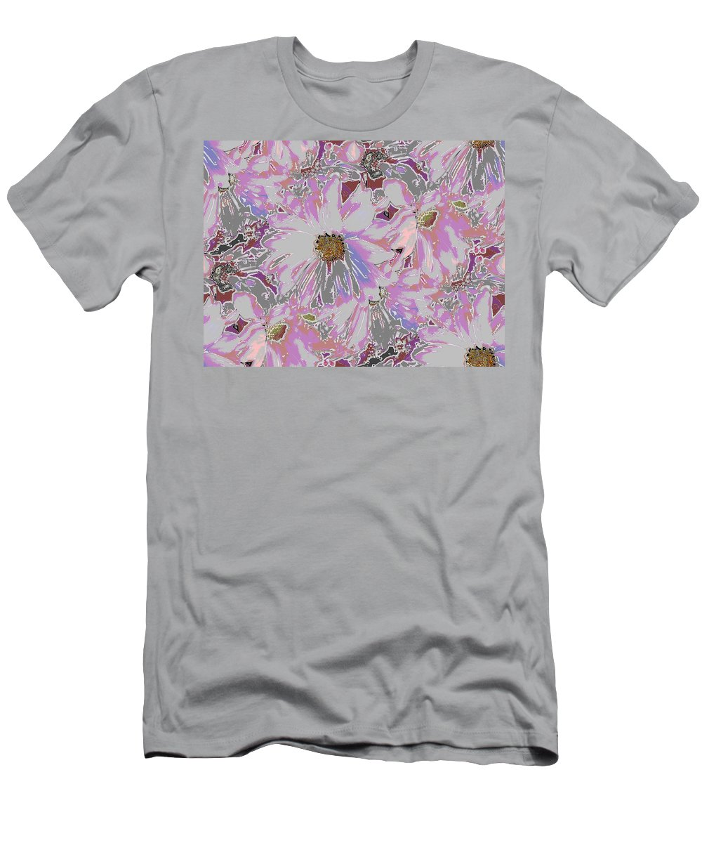 Daisy Men's T-Shirt (Athletic Fit) featuring the digital art Daisies Galore by Tim Allen
