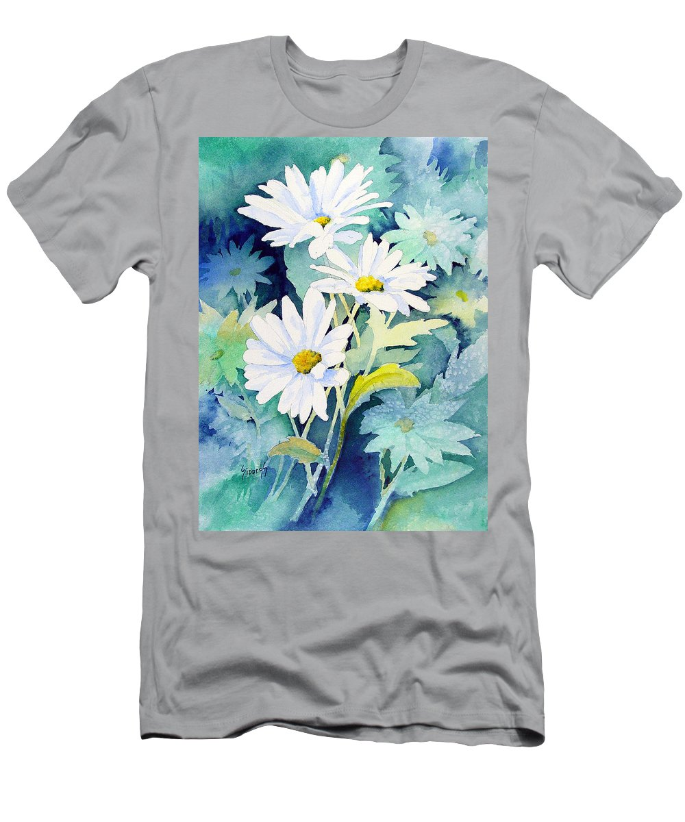 Flowers T-Shirt featuring the painting Daisies by Sam Sidders