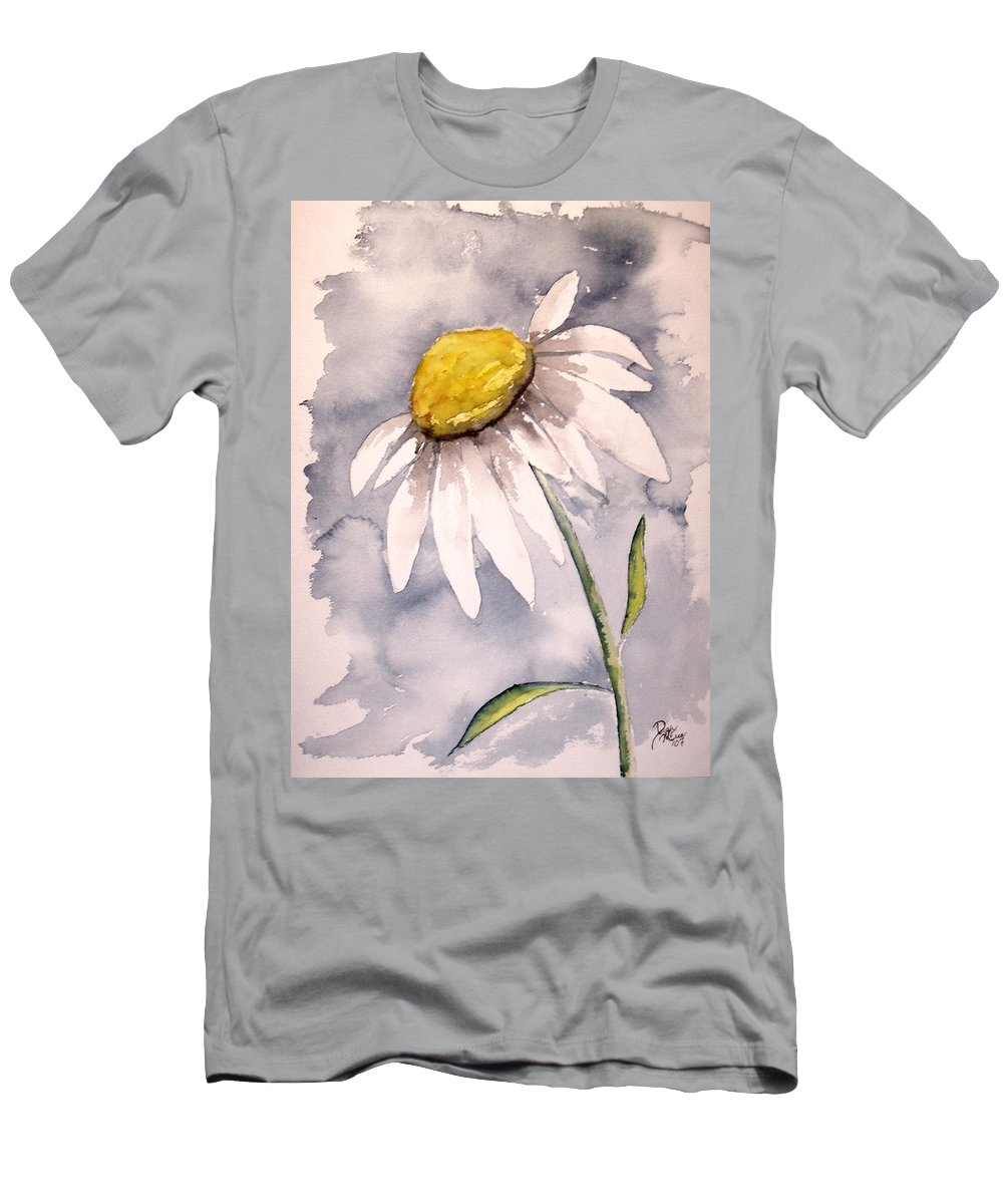 Daisy Men's T-Shirt (Athletic Fit) featuring the painting Daisy Modern Poster Print Fine Art by Derek Mccrea