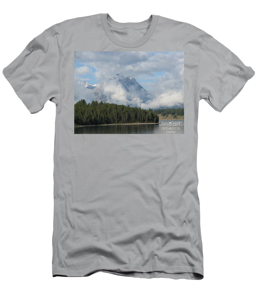 Patzer Men's T-Shirt (Athletic Fit) featuring the photograph Dam Clouds by Greg Patzer