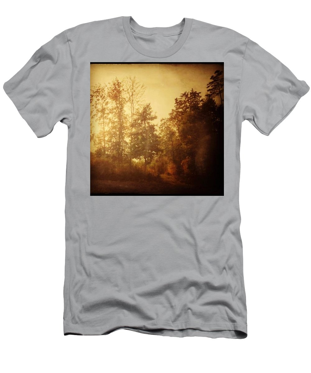 Lumia1520 Men's T-Shirt (Athletic Fit) featuring the photograph Damals.#herbst #nostalgie #autumn by Mandy Tabatt