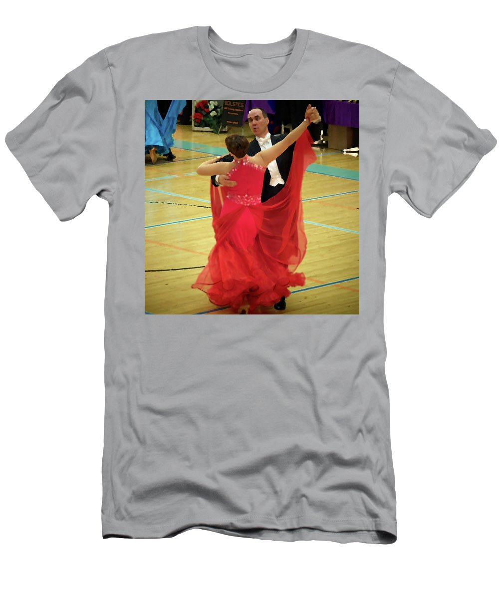 Lehtokukka Men's T-Shirt (Athletic Fit) featuring the photograph Dance Contest Nr 11 by Jouko Lehto