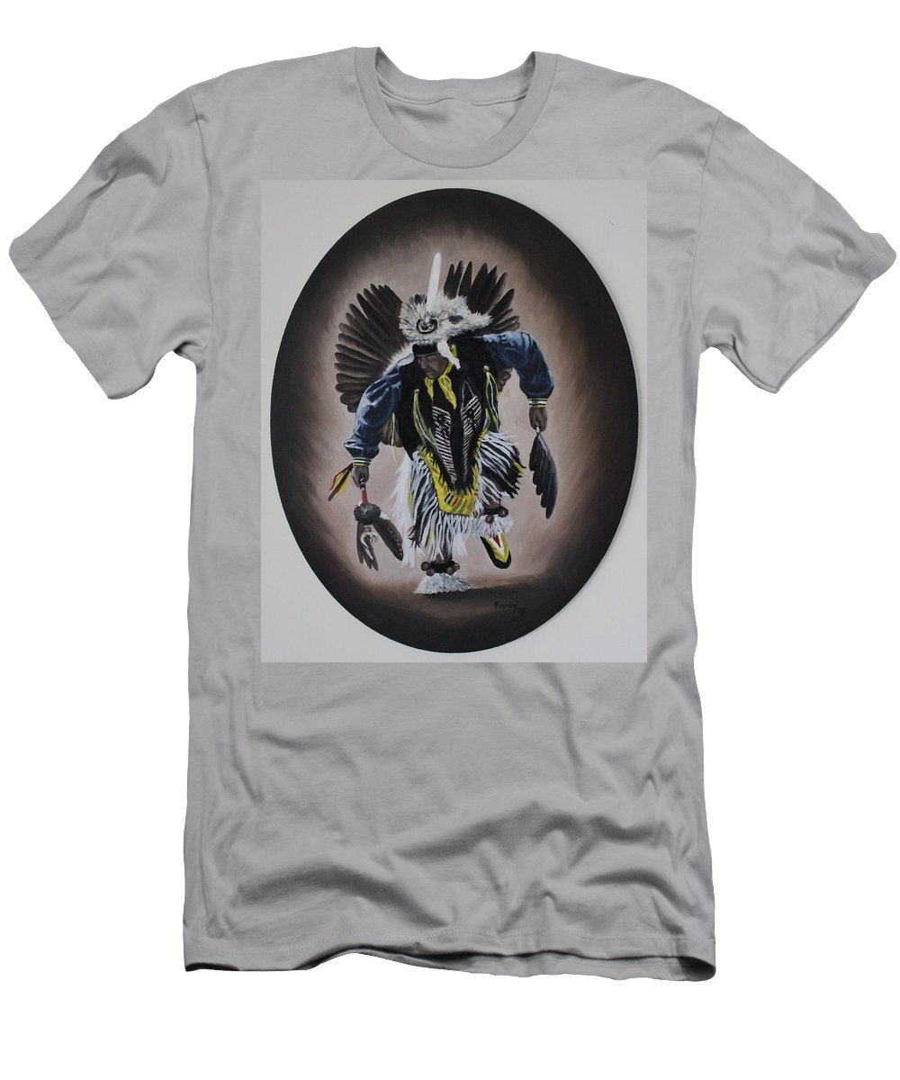 Michael Men's T-Shirt (Athletic Fit) featuring the painting Dancing In The Spirit by Michael TMAD Finney