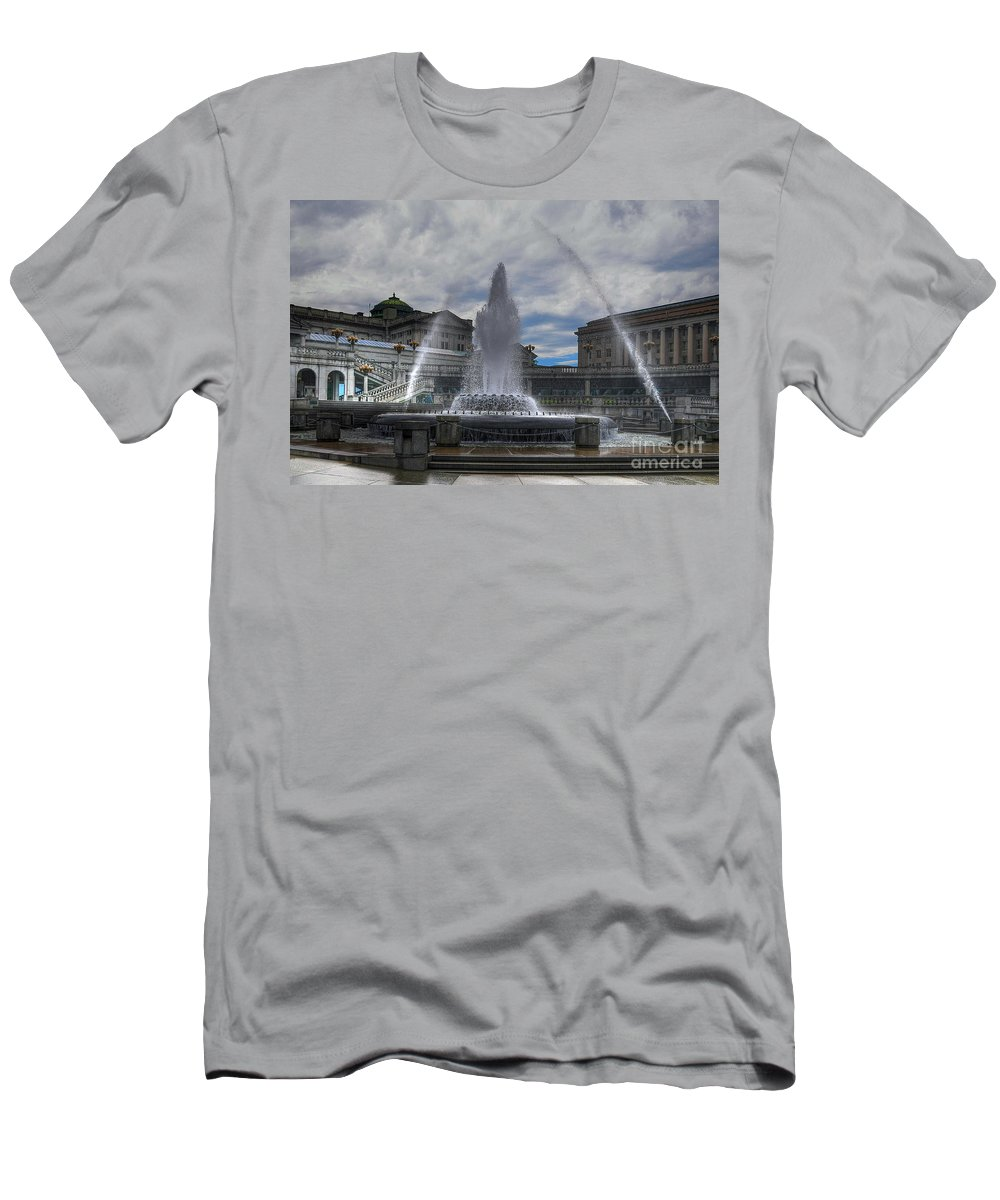Architecture Men's T-Shirt (Athletic Fit) featuring the photograph Dancing Waters by Lois Bryan